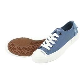 Big Star Trampki wiązane jeans FF274211 białe niebieskie 5