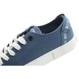 Big Star Trampki wiązane jeans FF274211 białe niebieskie 6