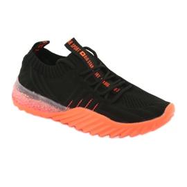 Sprandi Big Star buty sportowe wsuwane/wiązane FF274342 bezbarwne czarne pomarańczowe 1