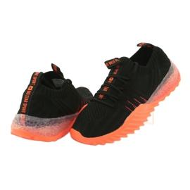 Sprandi Big Star buty sportowe wsuwane/wiązane FF274342 bezbarwne czarne pomarańczowe 4