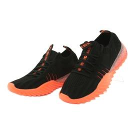 Sprandi Big Star buty sportowe wsuwane/wiązane FF274342 bezbarwne czarne pomarańczowe 3