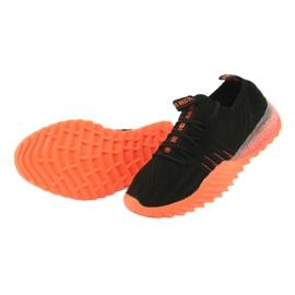 Sprandi Big Star buty sportowe wsuwane/wiązane FF274342 bezbarwne czarne pomarańczowe 5
