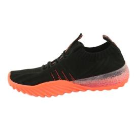 Sprandi Big Star buty sportowe wsuwane/wiązane FF274342 bezbarwne czarne pomarańczowe 2