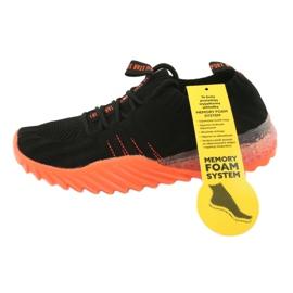 Sprandi Big Star buty sportowe wsuwane/wiązane FF274342 bezbarwne czarne pomarańczowe 7