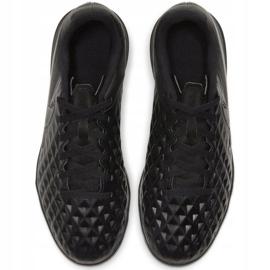 Buty piłkarskie Nike Tiempo Legend 8 Club Tf Jr AT5883-010 czarne czarne 1