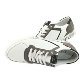 Buty sportowe Badura 3361 białe czarne szare 2