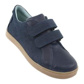 Buty chłopięce na rzepy Mazurek 1235 granatowe 1