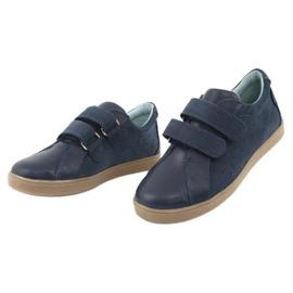 Buty chłopięce na rzepy Mazurek 1235 granatowe 3