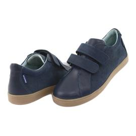 Buty chłopięce na rzepy Mazurek 1235 granatowe 4