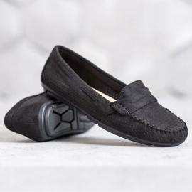 Clowse Tekstylne Mokasyny czarne 2