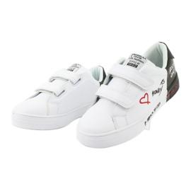 Trampki sportowe biało-czarne American Club ES05 3