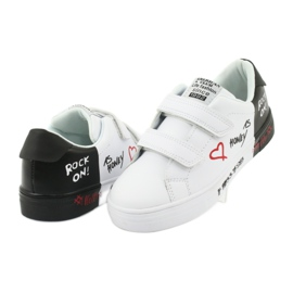 Trampki sportowe biało-czarne American Club ES05 4