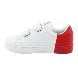 Trampki sportowe biało-czerwone American Club ES05 2