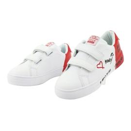 Trampki sportowe biało-czerwone American Club ES05 3
