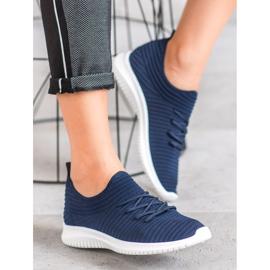 SHELOVET Wsuwane Buty Tekstylne niebieskie 1