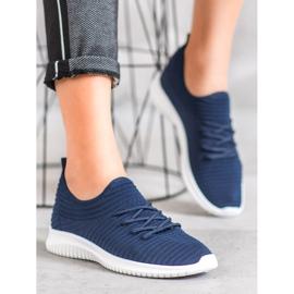 SHELOVET Wsuwane Buty Tekstylne niebieskie 4