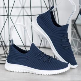 SHELOVET Wsuwane Buty Tekstylne niebieskie 3