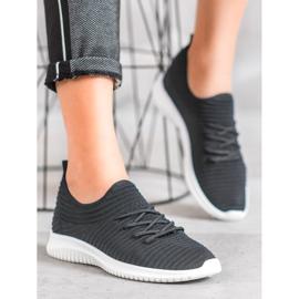 SHELOVET Wsuwane Buty Tekstylne czarne 2