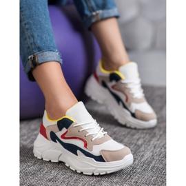 SHELOVET Tekstylne Sneakersy wielokolorowe 1