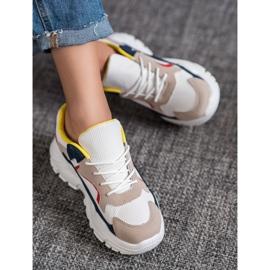 SHELOVET Tekstylne Sneakersy wielokolorowe 2