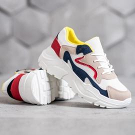 SHELOVET Tekstylne Sneakersy wielokolorowe 4