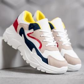 SHELOVET Tekstylne Sneakersy wielokolorowe 5