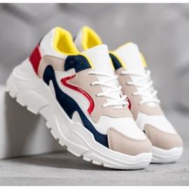 SHELOVET Tekstylne Sneakersy wielokolorowe 6