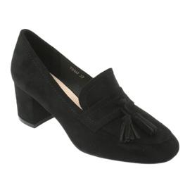 Buty na słupku Sergio Leone PB147 czarne 1