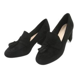 Buty na słupku Sergio Leone PB147 czarne 3