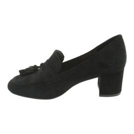 Buty na słupku Sergio Leone PB147 czarne 2