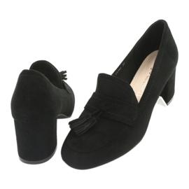 Buty na słupku Sergio Leone PB147 czarne 4
