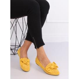 Mokasyny z kokardą miodowe B2028 Yellow żółte 3