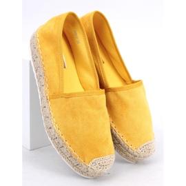 Espadryle damskie miodowe JH91P Yellow żółte 3