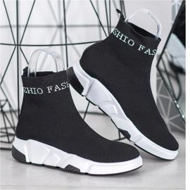SHELOVET Wsuwane Buty Fashion czarne 4