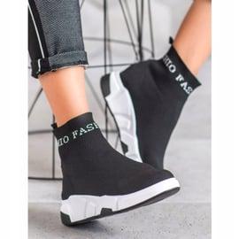 SHELOVET Wsuwane Buty Fashion czarne 2