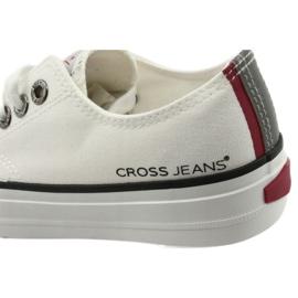 Cross Jeans tramki wiązane białe FF2R4010C 6