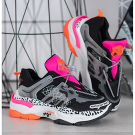 Bella Paris Sneakersy Z Kolorowymi Wstawkami wielokolorowe 2