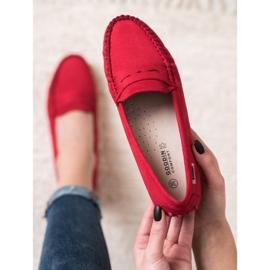 Goodin Klasyczne Tekstylne Mokasyny czerwone 3