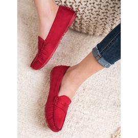 Goodin Klasyczne Tekstylne Mokasyny czerwone 2