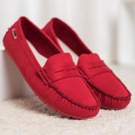 Goodin Klasyczne Tekstylne Mokasyny czerwone 4
