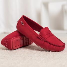 Goodin Klasyczne Tekstylne Mokasyny czerwone 5