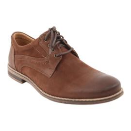 Riko półbuty buty męskie wiązane 831 brązowe 1