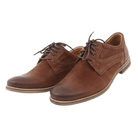 Riko półbuty buty męskie wiązane 831 brązowe 3