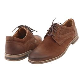 Riko półbuty buty męskie wiązane 831 brązowe 4