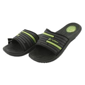 Klapki męskie basenowe Rider 82735 black/green 2
