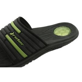 Klapki męskie basenowe Rider 82735 black/green 4