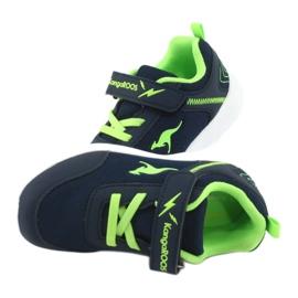 Lekkie Buty sportowe KangaROOS 02050 granatowe zielone 5