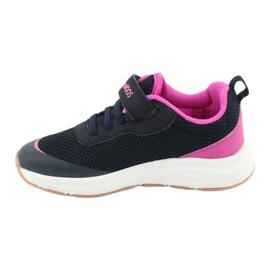 KangaROOS buty sportowe na rzepy 18507 navy/pink 2