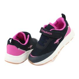 KangaROOS buty sportowe na rzepy 18507 navy/pink 4