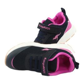 KangaROOS buty sportowe na rzepy 18507 navy/pink 6